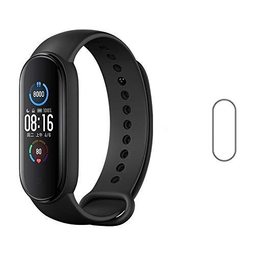 Kit Smartwatch Xiaomi Mi Band 5 Versão Global + Película Protetora Nano Gel