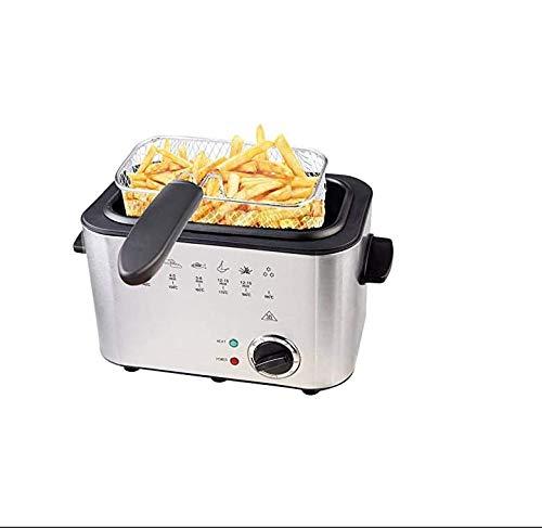 1.2L 1200W Edelstahl Friteuse, automatische konstante Temperatur Fryer-mit Abnehmbarer Korb, leicht zu reinigen, Startseite Smokeless Gewerbe Fryer
