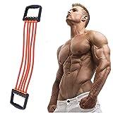 Extenseur de poitrine   Entraînement des bras, appareil de musculation des bras réglable à 5 tubes, bande de résistance adaptée à...