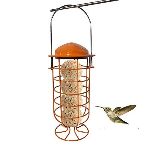 Klassieke hangende buisvoeder, Eekhoorn Buster Legacy Eekhoornbestendige vogelvoeder, Metalen vogelvoeder Hangende buitendecoratie met afneembare hoes voor tuinbalkon