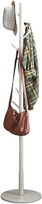 木製ツリーコートラックスタンド、8フック-自立コートスタンド、廊下コートハンガー帽子ハンドバッグ、服&アクセサリー用スタンド C