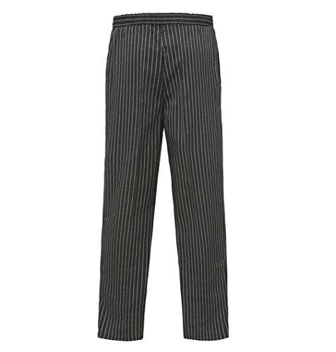 WAIWAIZUI Trabaja Pantalones de Cocinero Negro