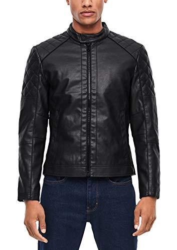 s.Oliver RED Label Herren Jacke im Biker-Look Black L