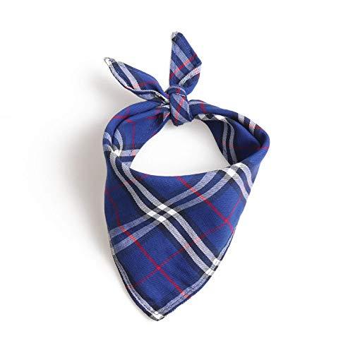 Hondenhalsband in Britse stijl, blauw, driehoek, bandage, sjaal, speekseldoek, zachte gentleman, kluis halsband voor honden, voor alle seizoenen, ademend, zacht gevoerd, licht, M42*42*60