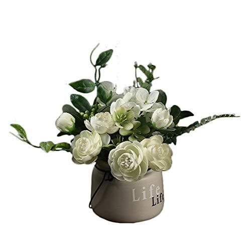 Icegrey - Planta Artificial para balcón, Oficina, Cuarto de baño, decoración del hogar, Flor F, Talla única