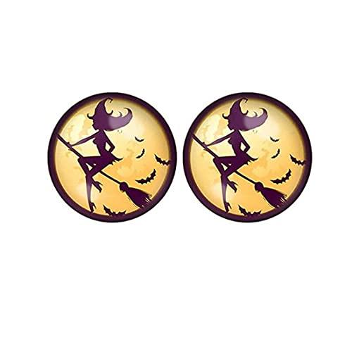 Spooky Halloween - Pendientes unisex para hombre y mujer