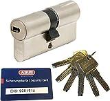 ABUS EC660 Profil-Doppelzylinder Länge (a/b) 30/45mm (c=75mm) mit 6 Schlüssel, mit Sicherungskarte