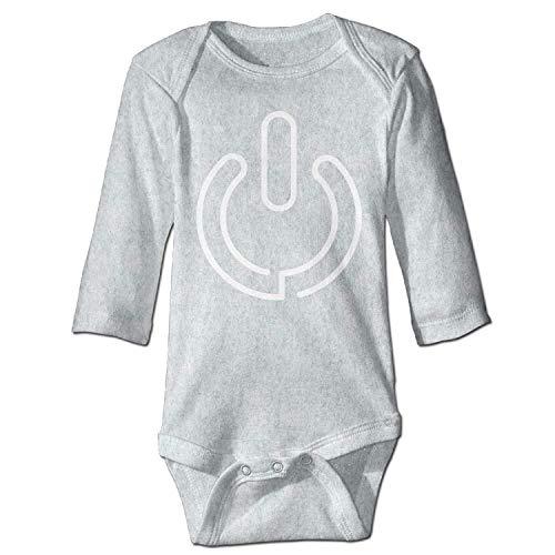 Unisex Infant Bodysuits Close Sign Boys Babysuit Long Sleeve Jumpsuit Sunsuit Outfit Ash