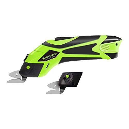 Elektrische Schere, Hawkforce 4V Li-Ion Akkuschere Multi-Cutter zum Pappe, Papier usw,Teppich,Stoff, Leder