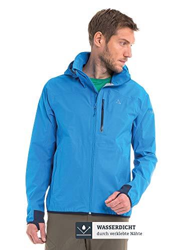 Schöffel Herren Jacket Toronto4 Wind-und wasserdichte Jacke Kapuze, atmungsaktive und verstaubare Hardshelljacke für Männer, blau (directoire blue), 50