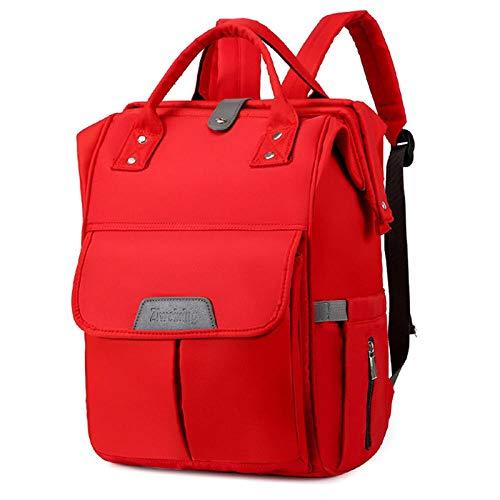 Dewmpp Oxford Bolsas para pañales Mochila para pañales de bebé de gran capacidad Mochila de viaje portátil para mamá y papá-B_L