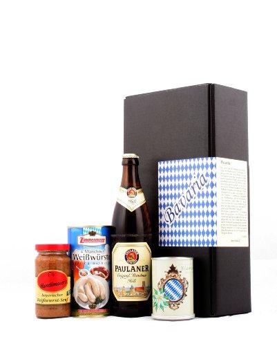 Typisch bayrisch - Bayern & München Spezialitäten Geschenk (Bier, Weißwurst, Senf & Edelweiss) - Das ideale Geschenk nicht nur für Männer