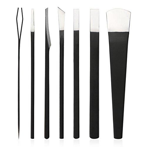 Pedicure Knife Set, Segbeauty 7pcs Ingrown Toenail Tools with Storage Bag, High Manganese Steel Nail Knives Cuticle Remover, Professional Foot Repair Sharp Blade Kit for Nail Corn Callus