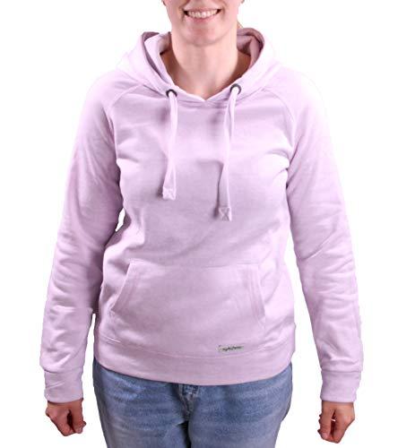 Eight2Nine Kapuzen-Pullover Angesagter Damen Sweater mit Kangaroo-Taschen Pulli Hoodie Pastell Violett, Größe:XS