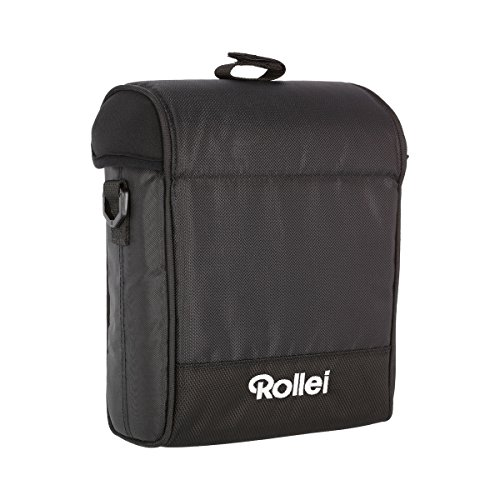 Rollei Square Filter Bag 150 mm - Bolsa de nylon acolchada para filtros rectangulares de 150 mm de ancho, incl. correa para cargar y paño de limpieza - Negro