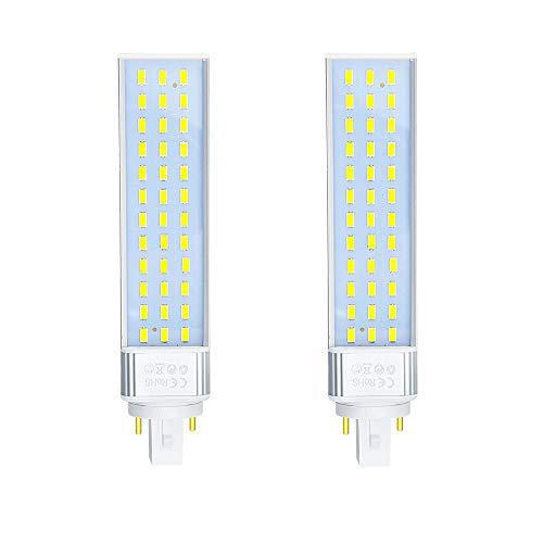 Bombilla LED PLC Bonlux G24 de 2 pines, 2 pines, G24d, G24Q, G24Q, 4 pines, con LED retrofit, 13 W, repuesto CFL, 26 W, luz blanca cálida (quitar el reactor)