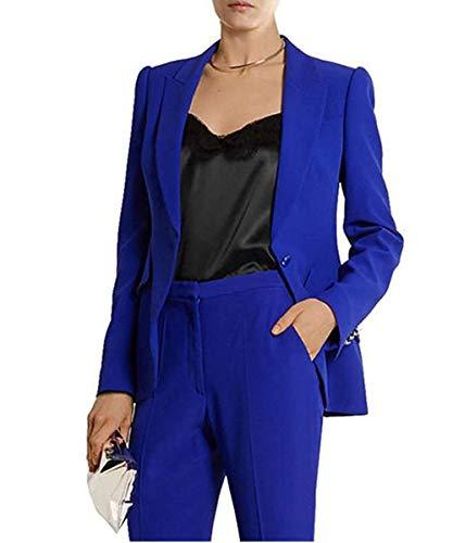 P.L.X Blazer und Rock Anzug Damen Zweiteiliger Slim Fit Jacke mit Hose