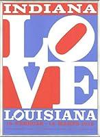 ポスター ロバート インディアナ Love louisiana 額装品 アルミ製ベーシックフレーム(ライトブロンズ)