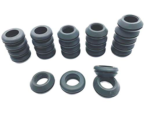 HORTIPOTS 1 Inch Rubber Grommet 25 Pack, Replacement Rubber Grommet to Drill 1.5 Inch Hole Using with SCH40 3/4 inch Hydroponic PVC Pipe in DIY Hydroponic Set Up (Pack of 25)