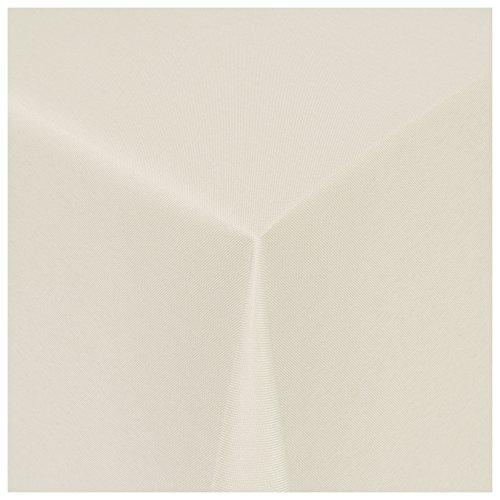 MODERNO® Textil Tischdecke Uni Design | eckig 130x250 cm in Creme-Champagner Damast | Eckig Oval Rund Größe und Farbe wählbar