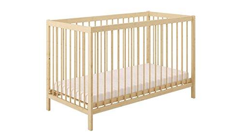 Polini Kids Babybett Gitterbett Simple 101 Massivholz natur 120x60 cm, 3022