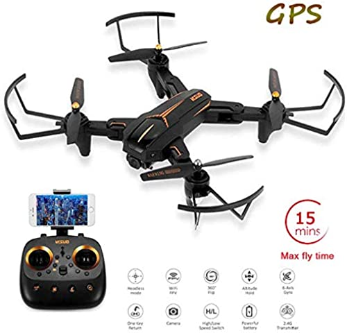 RC Drone 5G WiFi FPV 5MP HD Camera 15 Minuten Flug Zeit GPS Follow Me Surround Flight Altitude Hold One Key Return Quadcopter, für Kinder & Anf er