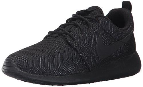 Nike Damen WMNS Roshe One Moire Turnschuhe, Schwarz/Schwarz-Weiß, 36 1/2 EU