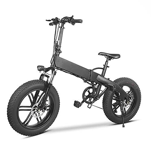 "QQLK 20"" Elektrofahrrad Ebike Mountainbike Falten, Elektrisches Fahrrad, LCD-Dashboard, 7-Gang, Ausdauer 80KM"