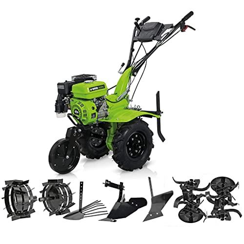 VITO 7PS Benzin Motorhacke Direktantrieb Einachsschlepper - Einachser Bodenfräse Motorhacke 7PS Diesel E-Starter Direktantrieb - Kartoffelroder + Pflug + Häufelkörper + Fräse 115cm Arbeitsbreite
