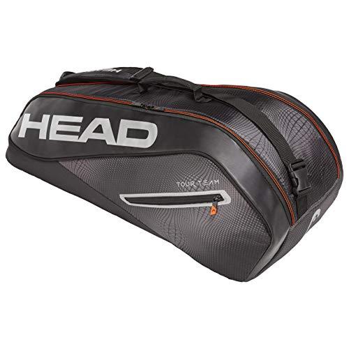 Head Tour Team 6R Combi Bolsa de Tenis, Adultos Unisex, Nero/Silver