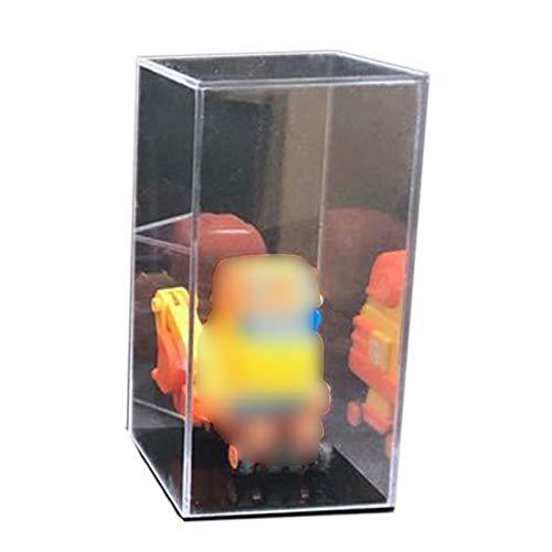 LM-Coat rack XINGLL Acrílico Vitrina Transparente, Caja Apilable Protección Transparente para Figuras Coleccionables, Manualidades, Juguetes, Modelos, Almacenamiento Coches, Base Negra