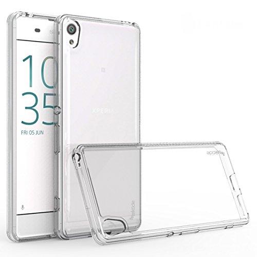 Tektide Case Compatible for Sony Xperia XA Ultra, [Invisible Armor] Drop Protection Soft Silicone Rubber TPU Case/Skin Cover/Bumper