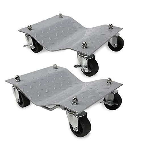 XtremepowerUS Set of (2) Heavy Duty Vehicle Skates Dolly Wheel Car Repair Slide Vehicle Car Moving Dolly