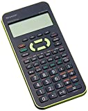 Sharp ELW531XH-GR - Calcolatrice scientifica scolastica (display a 4 rige, 335 funzioni, D.A.L), colore: Verde/Nero