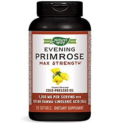 Nature's Way Evening Primrose, Efa Gold Cold Pressed Oil 1300mg, 120 Softgels from Nature's Way