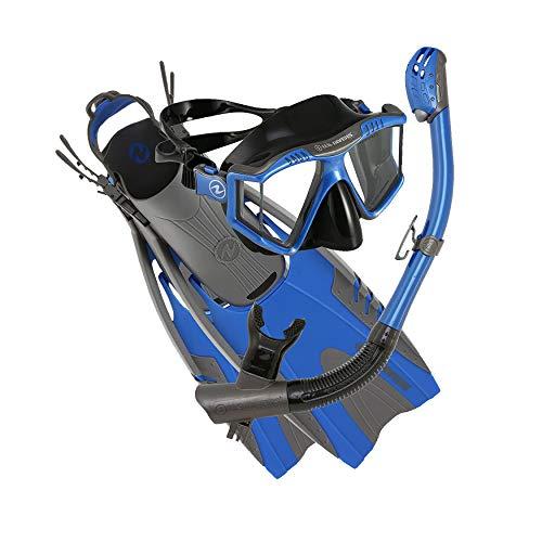 U.S. Divers Lux Mask Fins Snorkel Set Compatible...
