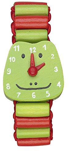 Die Spiegelburg Die Lieben Sieben Meine erste Armbanduhr aus Holz mit beweglichen Zeigern (Frosch Ole)