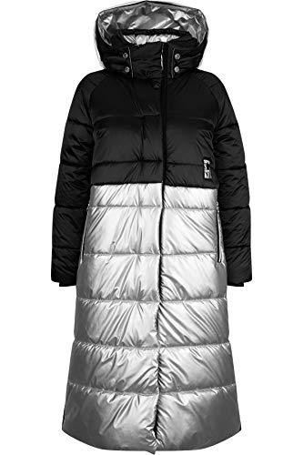 Sportalm W Insulated Parka 1 Colorblock-Grau-Schwarz, Damen Mantel, Größe 42 - Farbe Black