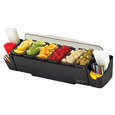 San Jamar BD4006S 10 Piece The Dome Garnish Center, 3qt Capacity, 22  Length x 7-1/2  Width x 8-1/2  Height
