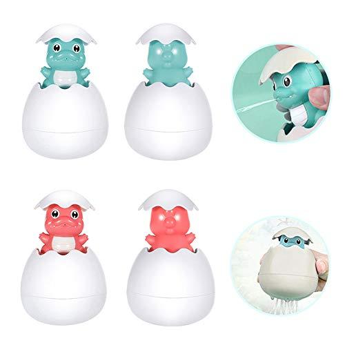 Auidy_6TXD 2 Stücke Baby Badespielzeug, Badezeit Squirt-Spielzeug Badespielzeug Schwimmende Kleines Dinosaurier-Ei Spielzeug