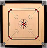 Copper Bust 32' X 32' Carrom Board with Striker Coins and Disco Powder