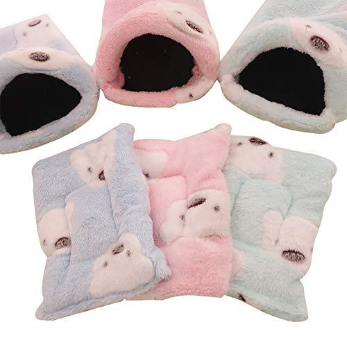 Cama caliente para mascotas pequeña bolsa de dormir para invierno, suave y...