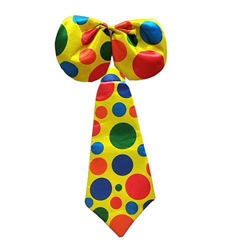 TrifyCore Halloween Clown Krawatte Fliege für Halloween Clown Kostüm Zubehör Kostüm 1 Set