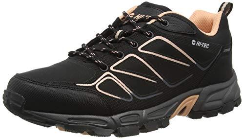 Hi-Tec Ripper Low WP Womens, Zapatillas para Caminar Mujer, Negro Sandía Rojo, 36 EU
