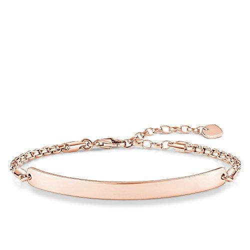 Thomas Sabo Damen-Armband Love Bridge 925 Sterling Silber 750 rosegold vergoldet Länge von 16.5 bis 19.5 cm Brücke 5.4 cm LBA0047-415-12-L19,5v
