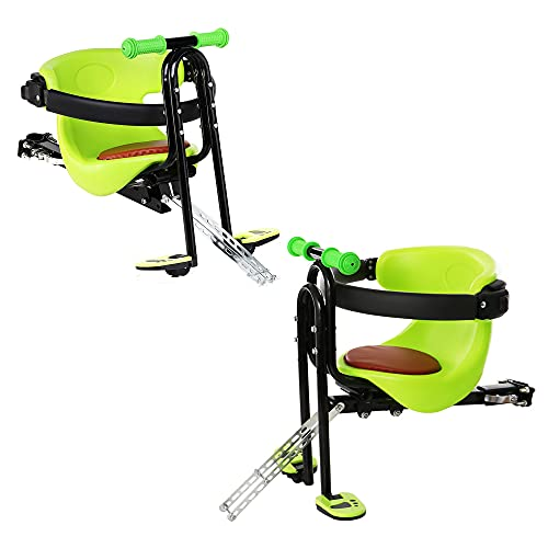 ZYYM Child Bicycle Seat with Cushion, Comfortable Kids Bike Front Chair, Safety Stable Baby Child Kids Bicycle Bike Front Seat Chair, Bike Carrier Sport Seats for Kids Aged 8 Months to 4 Years