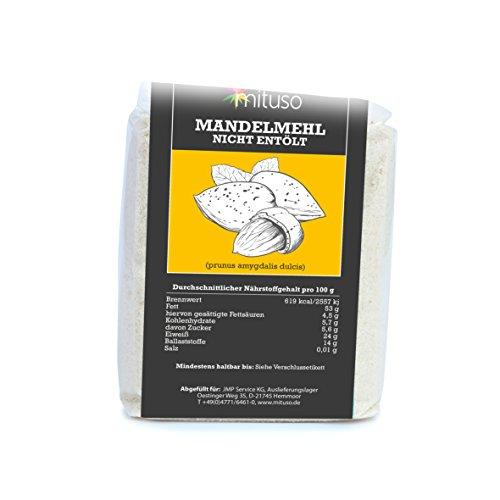 Mituso Harina De Almendra Mituso, Natural, Blanqueada, 1 Paquete (1 X 500G) 515 g