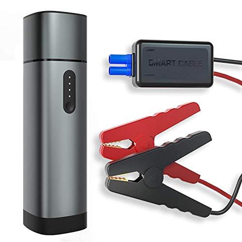 Auto-Starthilfe Powerbank, tragbarer Autobatterie-Starthilfe-Starthilfe, 1000 Spitzenstrom / 15000 Mah Kapazität, geeignet für 12-V-Diesel- und Benzinmotor. Zwei USB-Anschlüsse, 3 Lichtmodi