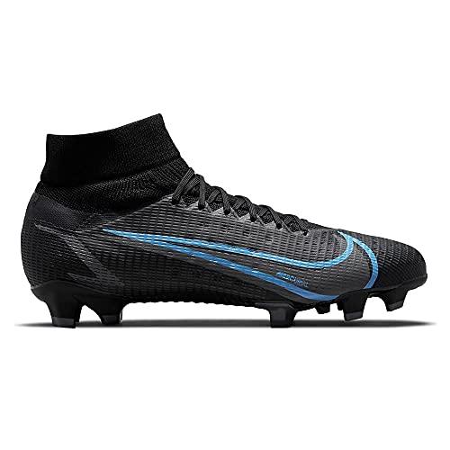 Nike Superfly 8 PRO FG - Botas de esquí, color negro y verde, Negro Black Iron Grey University Blue, 41 EU