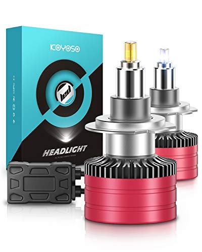 KOYOSO H7 LED Lampadine 360° 10000LM LED Lampada per 12V Auto 6500K Bianco